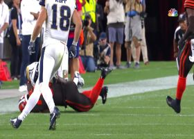 T.J. Carrie jumps Goff pass for impressive diving interception