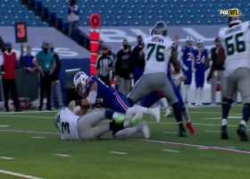 Bills force Wilson's fourth turnover as A.J. Klein wallops QB for thunderous strip-sack