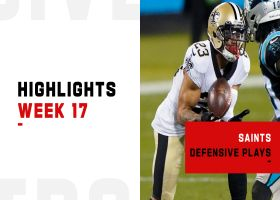 Saints' best defensive plays from 5-turnover win | Week 17