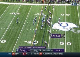 J.K. Dobbins hustles for 4 yards on successful fourth-down conversion