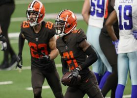 Denzel Ward closes door on Cowboys' comeback hopes with red-zone INT