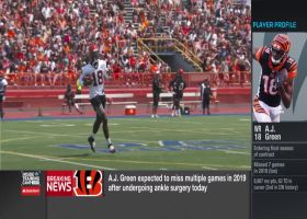 Ian Rapoport explains how Cincinnati Bengals wide receiver A.J. Green's recovery timeline increased after surgery