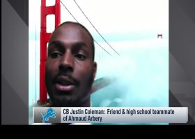 Justin Coleman remembers friend, former teammate Ahmaud Arbery