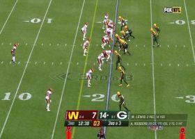 Rodgers lofts 20-yard TD floater to Robert Tonyan