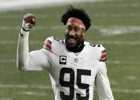 Mic'd Up: Myles Garrett celebrates win over Steelers | Super Wild Card Weekend