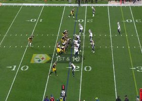 Mason Rudolph takes advantage of free play with 20-yard completion to JuJu