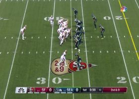 Tre Flowers sneaks up on CB blitz to drop Jimmy G for big loss on sack
