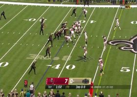 Drew Brees lobs third-down throw to Jared Cook over leaping CB