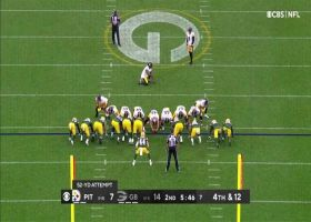 Chris Boswell doinks 52-yard FG through the uprights