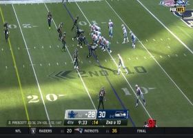 Flowers bobbles Prescott's throw right into Gallup's hands for huge play
