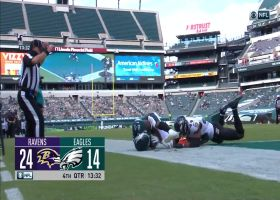 Eagles pull within 10 as Ward finds end zone on two-point conversion