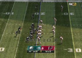 Miles Sanders bounces outside for speedy 23-yard burst