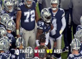 Mic'd Up: Jaylon Smith reacts to black cat on the field | Week 9