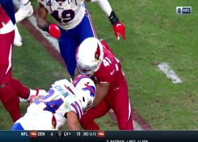 Taron Johnson punches ball out of Drake's hands for fumble
