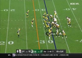 Packers smother Big Ben's fourth-down check-down for turnover on downs