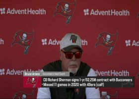 Bruce Arians talks timeline for Richard Sherman to see field for Bucs