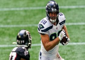 Greg Olsen's first Seahawks grab goes for a first down