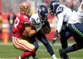 49ers engulf Russell Wilson for third sack of the first half