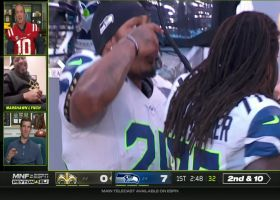 Marshawn Lynch joins Manning bros on 'MNF' broadcast