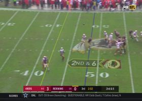 FedEx Field turns into Slip 'N Slide on 19-yard catch from Trey Quinn