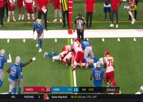 Coleman waits for Watkins to get up so he can deliver Lions' THIRD forced fumble