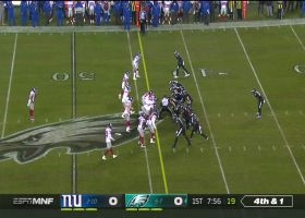 Giants force fumble on Carson Wentz's fourth-down QB sneak