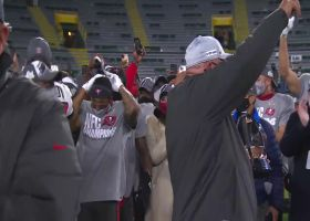 Arians, Brady celebrate after NFC championship victory