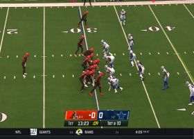 Chubb steamrolls off left tackle for 21-yard rush