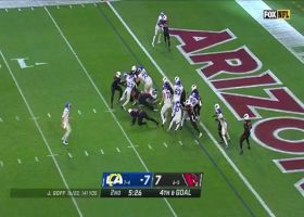 Cards blow up Cam Akers in the backfield for fourth-and-goal TFL