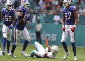 Bills swarm Tagovailoa for huge third-down sack