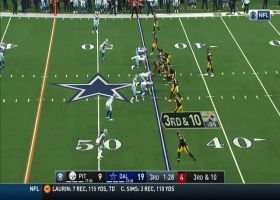 JuJu Smith-Schuster animated after 20-yard catch and run