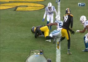 Eric Ebron rolls over Anthony Walker for TD in the flat