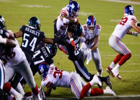 Wayne Gallman's airborne TD gives Giants their first lead