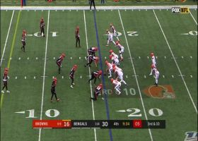 Baker Mayfield channels freight train on physical third-down scramble