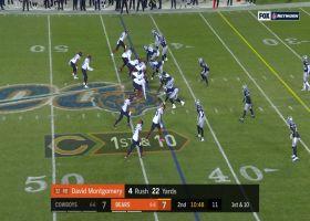 David Montgomery refuses to go down on way to 20-yard run