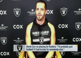 Derek Carr: 'I'd probably quit football if I had to play for somebody else'