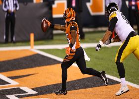 Giovani Bernard somehow slips by three Steelers for second TD