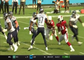 Isaiah Simmons corrals Ryan Tannehill's deflected pass for INT