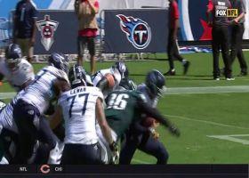 Derek Barnett bull rushes Marcus Mariota for sack