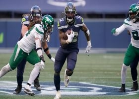 Chris Carson looks shot out of a cannon on 28-yard dash