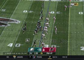 Miles Sanders navigates through traffic for shifty 25-yard gain