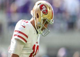 Jimmy G fired up after throwing pick-six to Mike Hughes