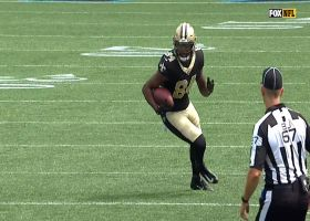 Lil'Jordan Humphrey puts the moves on Panthers with 27-yard snag