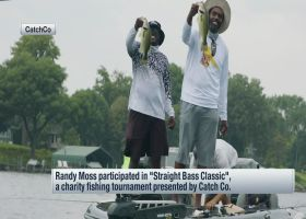 Randy Moss participates in 'Straight Bass Classic,' charity fishing tournament
