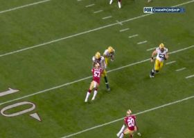 Aaron Jones sneaks past 49ers defenders for Packers' first TD
