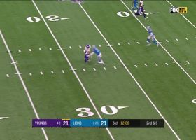 Kirk Cousins delivers lazer to Bisi Johnson for 19-yard gain