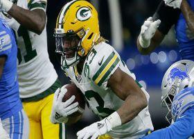 Aaron Jones turns slip screen into clutch 31-yard pickup