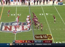 Antonio Gibson shows burst on 19-yard rush around edge