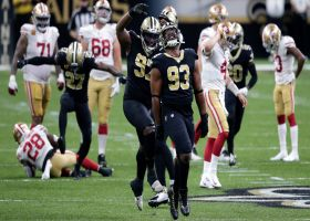 Saints D STUFFS McKinnon to force turnover on downs