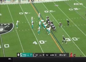 Dolphins stuff Raiders on fourth-and-1 from their own 34-yard line
